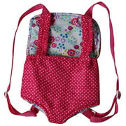 """Baby Whitney Hot Pink / Floral 18"""" Doll Carrier (DOLL NOT INCLUDED)"""