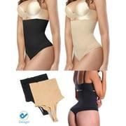Deago Women High Waist Thong Briefs Shapewear Body Shaper Tummy Control Cincher Underwear Panties