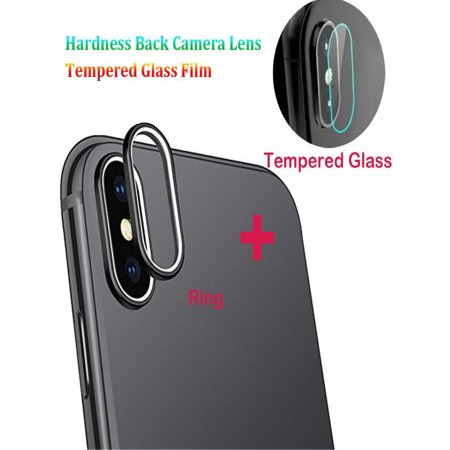 brand new 12a2d 0916f For iPhone XS Max 9H Back Camera Lens Ring +Tempered Glass Film Protector  Cover