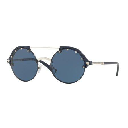 Versace VE4337 Sonnenbrille Silber / Blau 525180 53mm dF4JoFWhTO