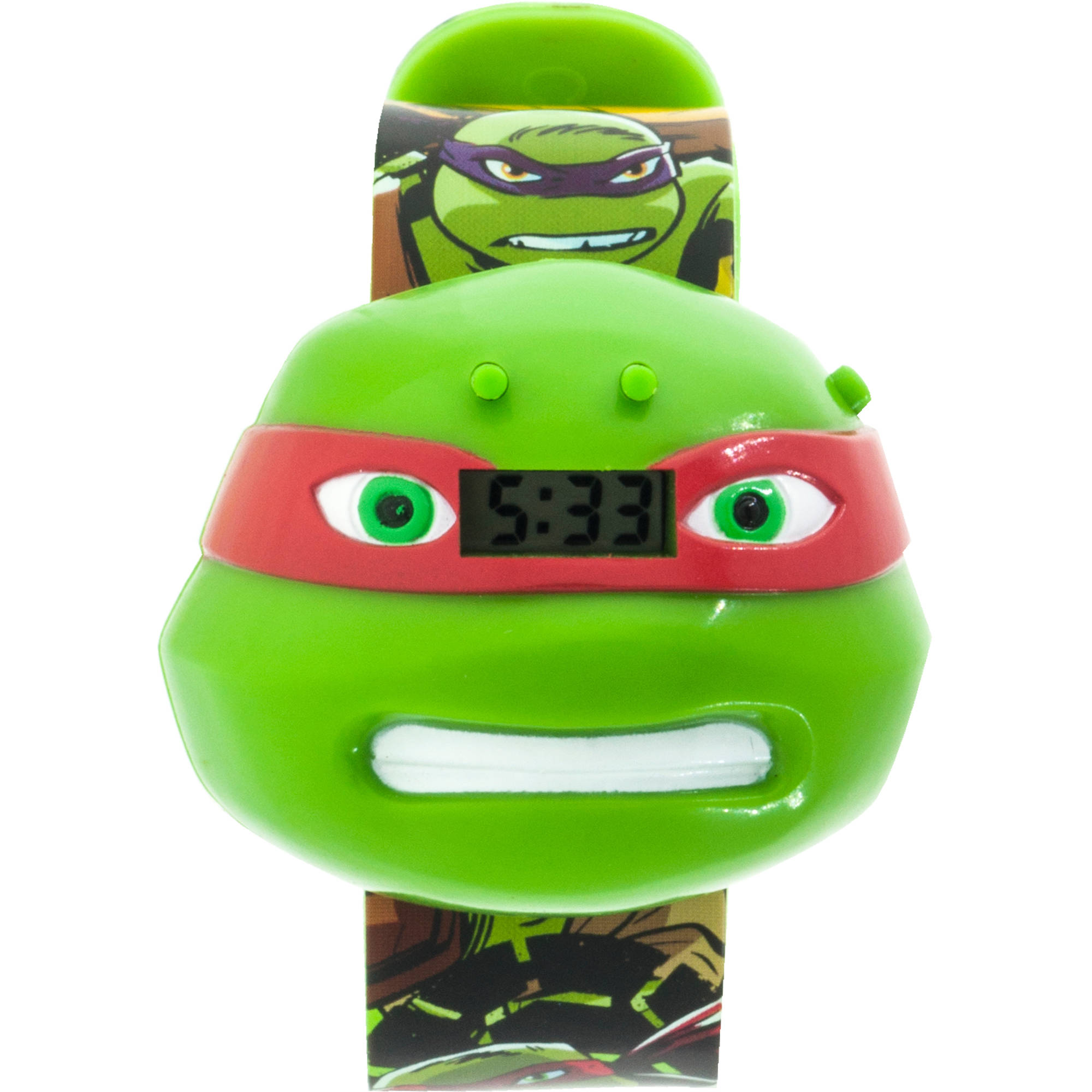 Nickelodeon TMNT Raphael Boys Molded Sound LCD Watch