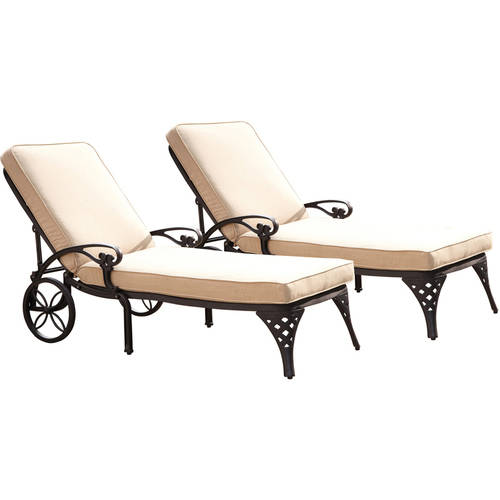 Home Styles Biscayne Chaise Lounge Chair with Cushions, Set of 2 by Home Styles