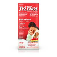 Infants' Tylenol Acetaminophen Medicine, Dye-Free Cherry, 2 fl. oz