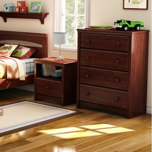 South Shore 4-Drawer Sweet Morning Chest, Royal Cherry by South Shore