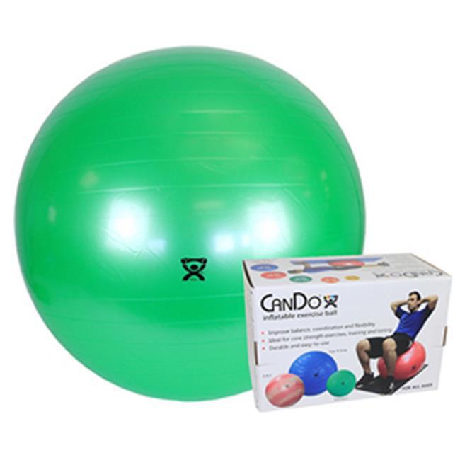 CanDo CanDo-30-1803B 26 in. Inflatable Exercise Ball - Green - image 1 de 1