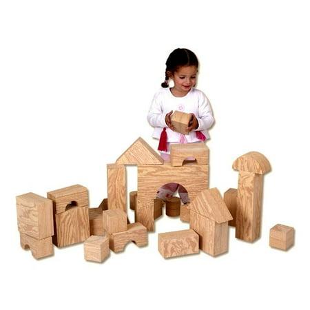 Oversized Foam Wood Look Building Blocks Set - Set of 32