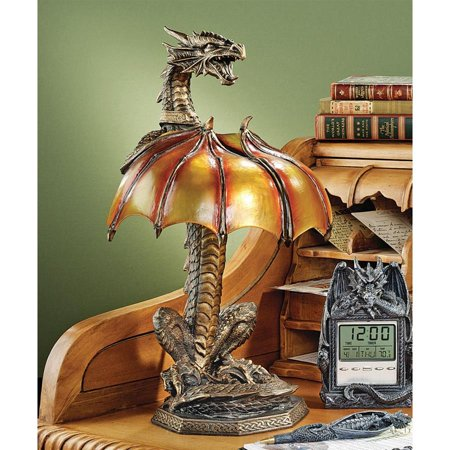 Dragon Sculpture (Design Toscano Dragon Strike Illuminated)