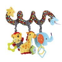 TOYMYTOY Infant Baby Activity Spiral Bed & Stroller Toy Monkey Elephant Educational Plush Toy