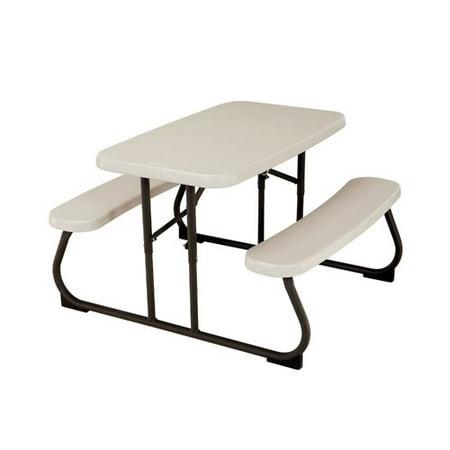 Folding Picnic Table Walmart.Lifetime Kids Plastic Resin Picnic Table