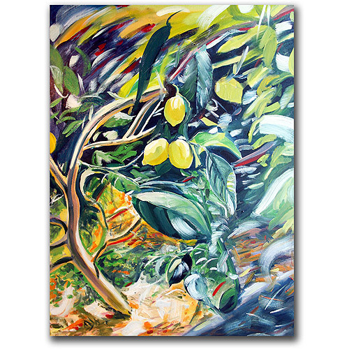 "Trademark Art ""Lemon Tree"" Canvas Art by Colleen Proppe"