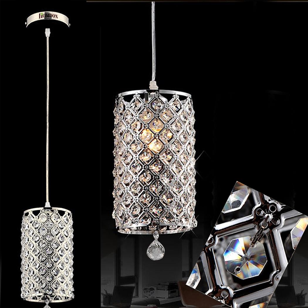 Homdox Modern Crystal Ceiling Light Fixture Mini Chandelier Light Pendant Lamp by