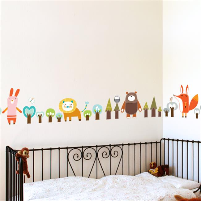 PICCOLO by ADzif P0100AJV5 Forest Friends, Wall Decal Color Print