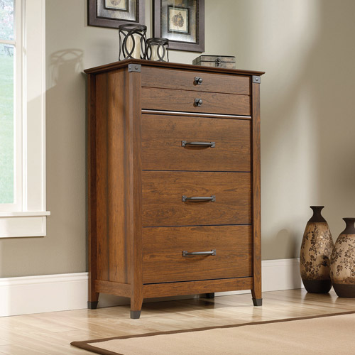 Sauder Carson Forge Chest of Drawers, Washington Cherry