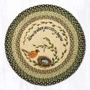 "Earth Rugs RP-121 Robins Nest Round Patch 27"" x 27"""