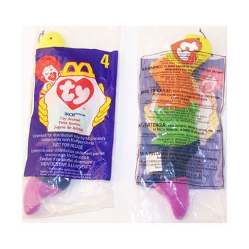TY McDonald's Teenie Beanie - #4 INCH the Worm (1998) (5 inch) (Mcdonalds Halloween Toys 1998)