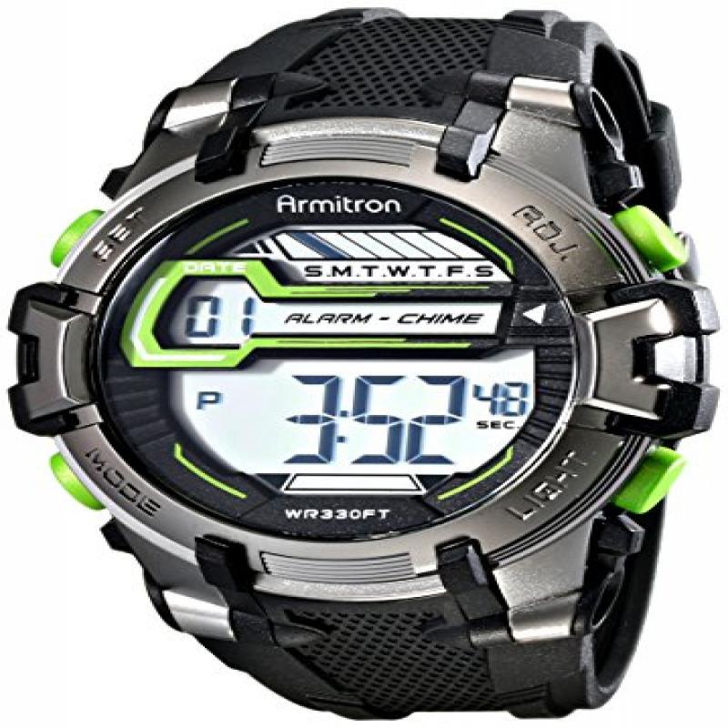 Armitron Sport Men's 40/8341BLK Digital Black and Green W...