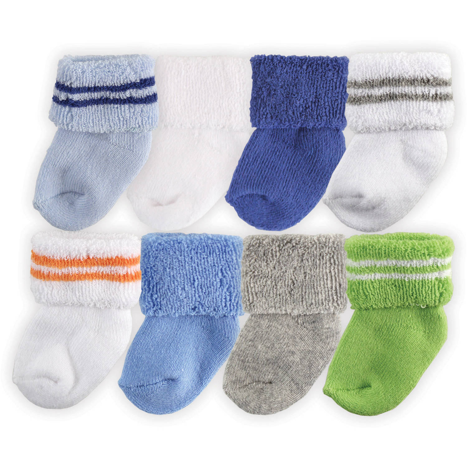 luvable friends newborn baby boys socks 8pack walmartcom