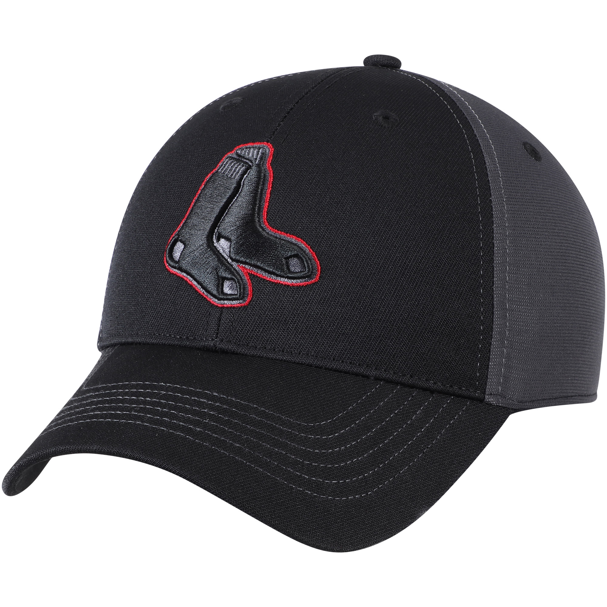 Boston Red Sox Fan Favorite Blackball Adjustable Hat - Black/Charcoal - OSFA