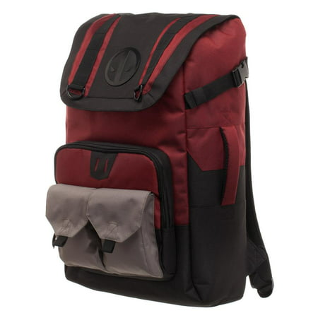 Marvel Deadpool Backpack - Black and Red Deadpool Backpack - Deadpool Book Bag
