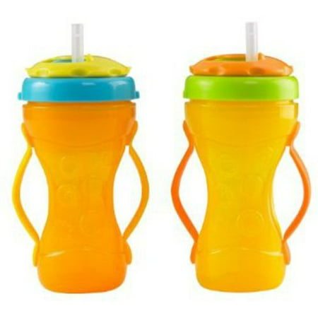 Fisher Price 2 Grip Girls Travel Sippy Cup With Straw BPA Free