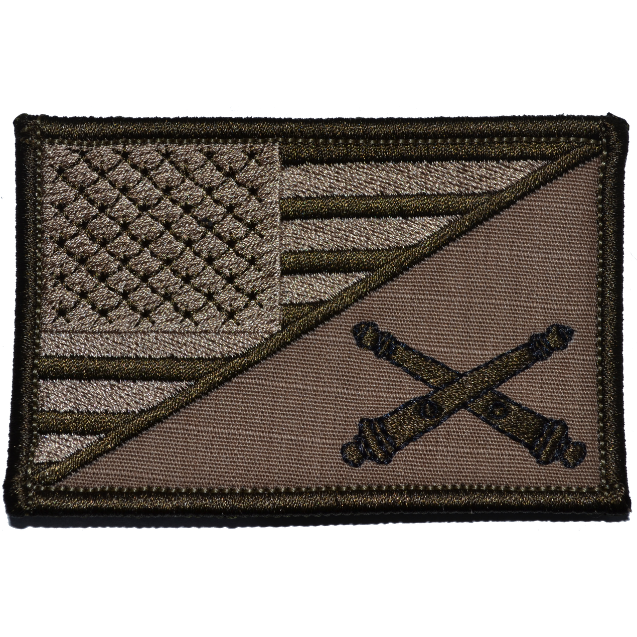 Field Artillery Cannoneer USA Flag - 2.25x3.5 Patch