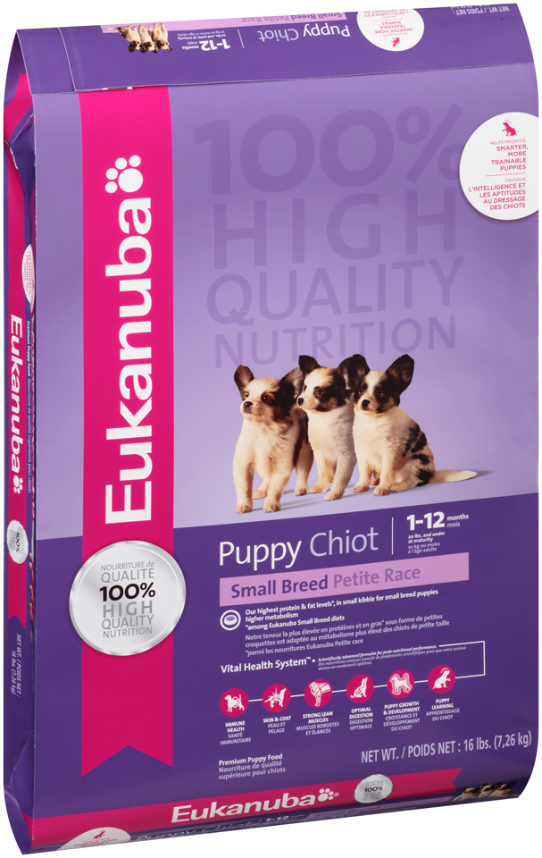 Eukanuba Small Breed Puppy Dry Dog Food 15 Lb Walmart Com
