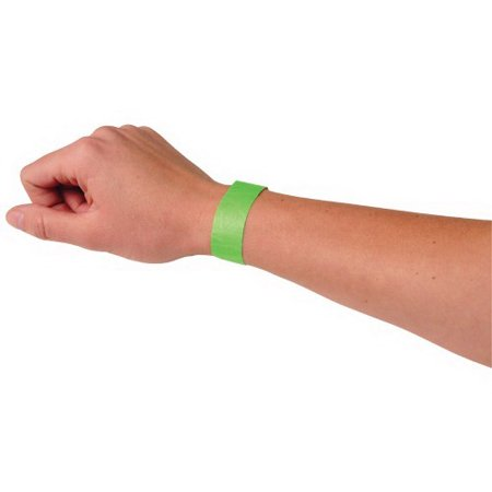 Neon Wristbands For Events (US TOY C19-89 Event Wristbands, Neon Green - 100)