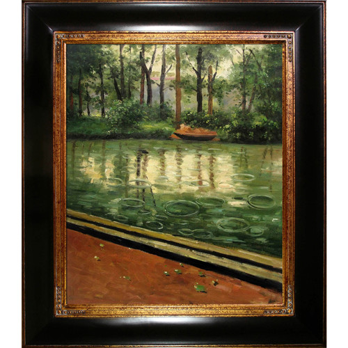 Tori Home The Yerres, Effect of Rain by Gustave Caillebotte Framed Painting