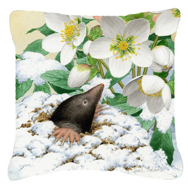 Carolines Treasures ASAD0387PW1414 Mole by Sarah Adams Canvas Decorative Pillow - image 1 of 1