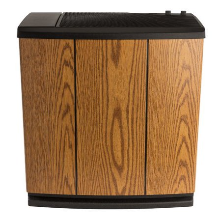 AIRCARE Trim Whole House Console Evaporative Humidifier for 3700 sq. ft. 12 gal Light Oak/Black ()