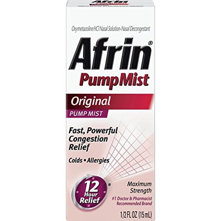 3 Pack Afrin 12 Hour Relief Pump Mist, Original, 0.5 Ounce Each