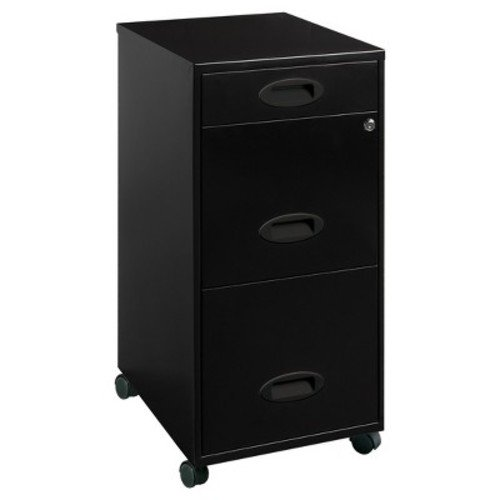 Lorell 3 Drawers Metal Vertical Lockable Filing Cabinet Black Walmart Com Walmart Com