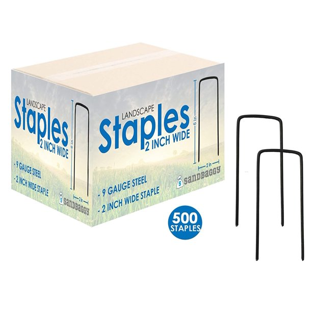 6 Long X 2 Wide Extra Wide Landscape Staples Landscape Fabric Pins Garden Staples Heavy Duty Ground Cover Staples Fence Anchors Lawn Nails Garden Stakes 500 Staples Walmart Com Walmart Com