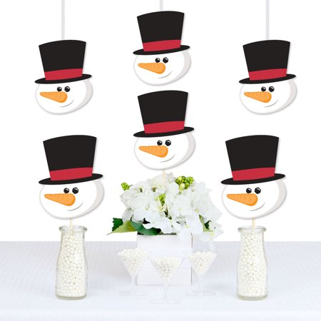 Let It Snow - Snowman Decorations DIY Christmas & Holiday Party Essentials - Set of - Diy Snowman Decorations