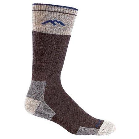 Darn Tough Vermont Merino Wool Boot Cushion Sock (Chocolate, Large) ()
