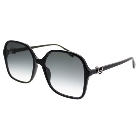 Fendi FF0287S 0807 Black Square Sunglasses ()