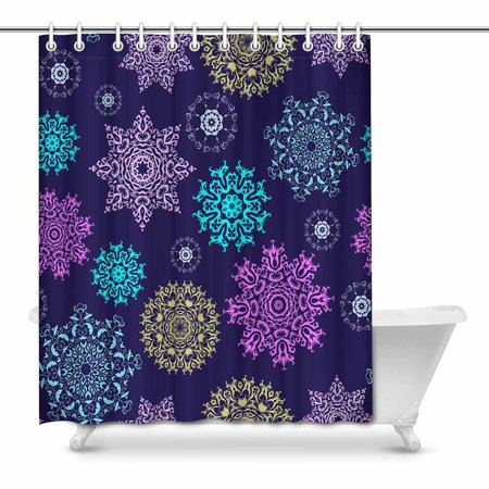 POP Snowflakes Shower Curtain Bathroom Decor Set 66x72 inch - image 1 of 1