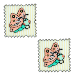 Expo Int'l BaZooples Iron-on Patch Applique Flutterbug Patch Pack of 2