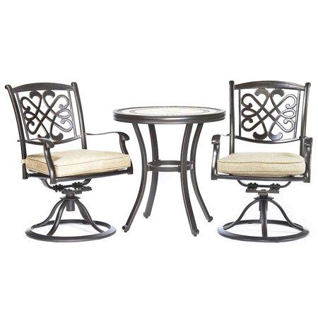 Tremendous Dali 3 Piece Bistro Set Handmade Contemporary Round Table Patio Glider Chairs Garden Backyard Outdoor Furniture Machost Co Dining Chair Design Ideas Machostcouk