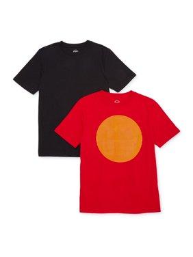 Wonder Nation Boys Holographic Short Sleeve Graphic T-Shirt 2 Pack Sizes 4-18 & Husky