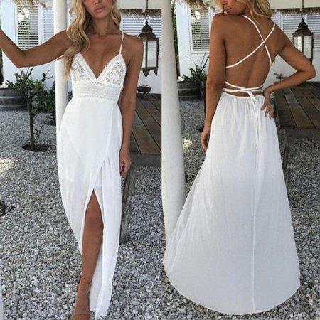 27fa919574f1 Calsunbaby - Women Maxi Boho Floral Summer Beach Long Dress Skirt Evening  Cocktail Party - Walmart.com