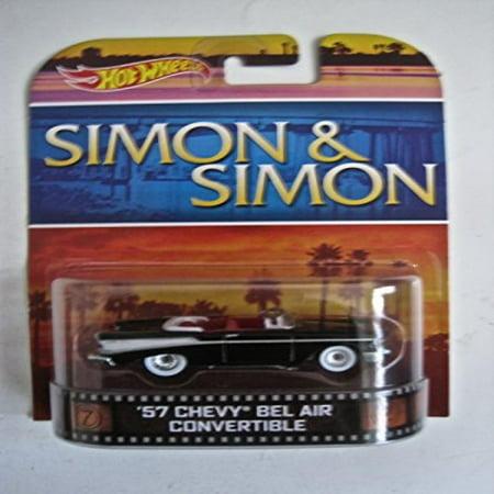 - Hot Wheels Simon & Simon '57 Chevy Bel Air Convertible, Black Chevrolet Bel Air 1957