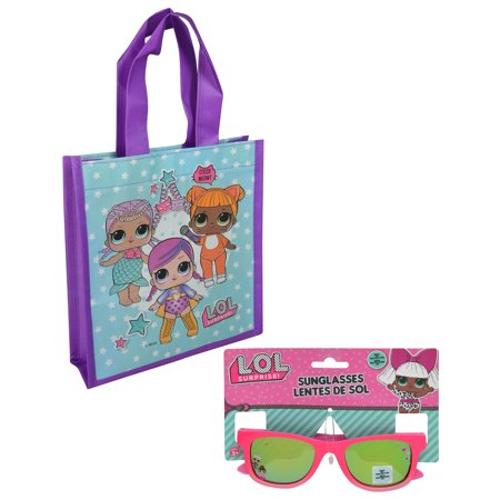 LOL Surprise Childrens Pink Sunglasses and Mini Reuseable Shopping Tote (Lol Sunglasses)