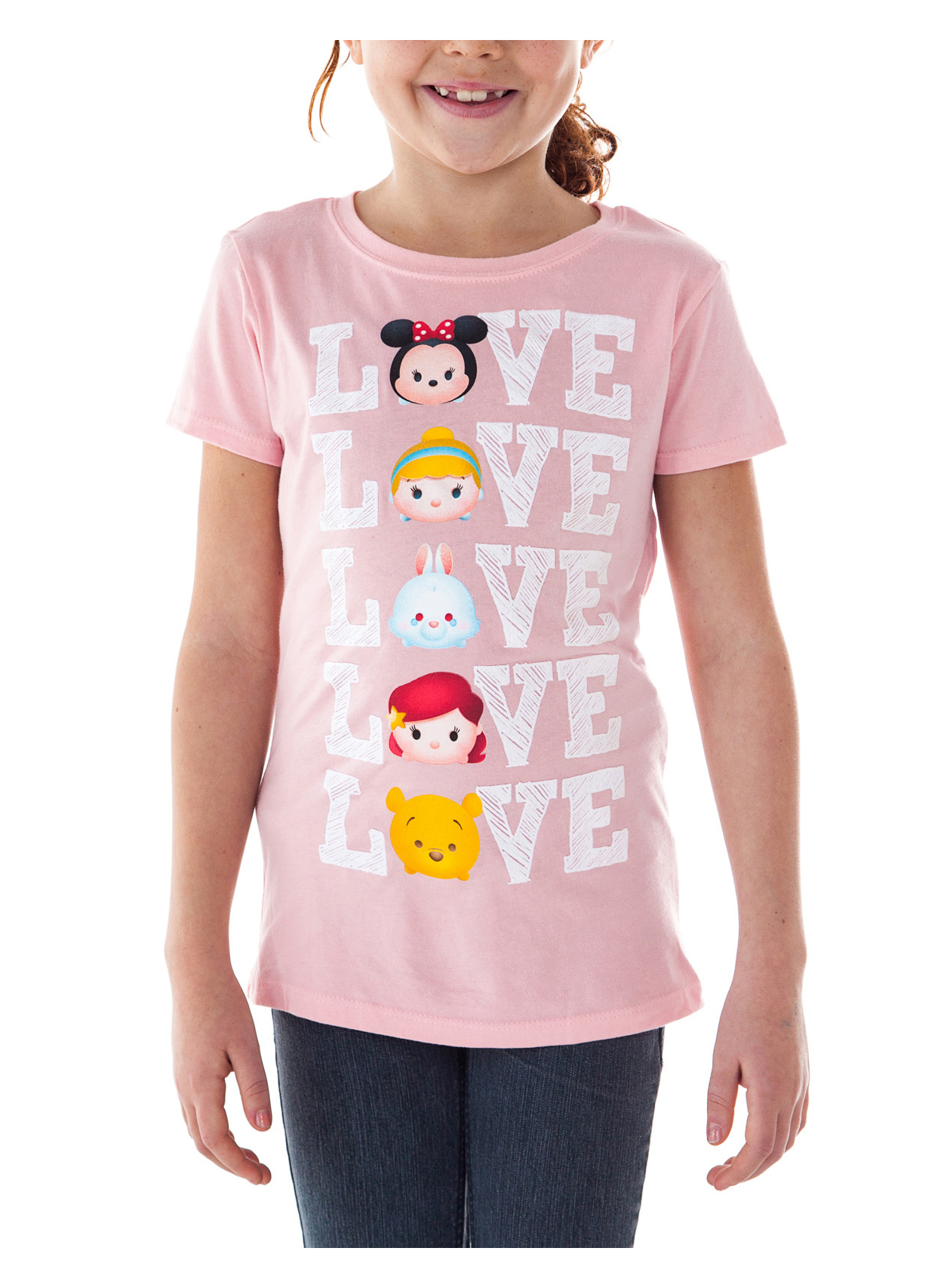 NEW Girls Graphic T-Shirt Size XS 4-5 Pink Disney Minnie Mouse Cotton
