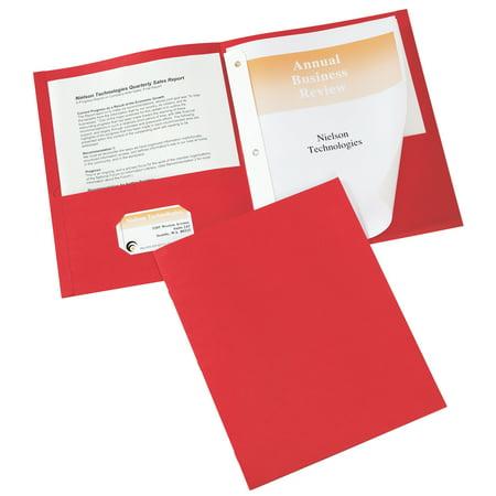 Cold Steel Folders (Avery Two-Pocket Folders, 25 Folders, Red (47979))