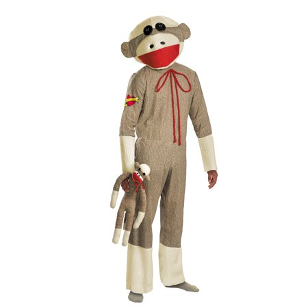 Sock Monkey Adult Halloween Costume