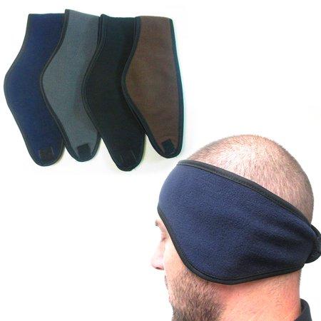 2pc Ear Cover Muff Warmer Winter Headband Fleece Earmuffs Wrap Soft Unisex New (Fleece Headbands)