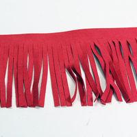 Fringe Genuine Suede Leather Trim 4 Red Three 24 Lengths