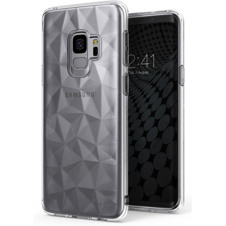 Galaxy S9 Case, Ringke [AIR PRISM] 3D Vogue Design Chic Ultra Rad Pyramid Stylish Diamond Pattern Flexible Jewel-Like Textured Protective TPU Drop Resistant Cover for Samsung Galaxy S9 - Clear