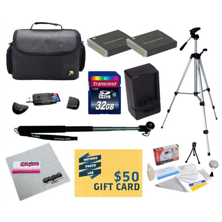 47th Street Photo - Ultimate Kit for Canon PowerShot SX170 IS SX280 IS S120 Digital Camera with 2 NB-6L Battery + Travel Charger + Tripod + Monopod + Mini tripod + 32GB  Memory Card + Carrying Case